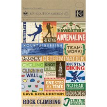 Boy Scouts Foil Embossed Stickers 4-1/2-Inch by 6-Inch Sheet, Hiking, Biking & Mountaineering