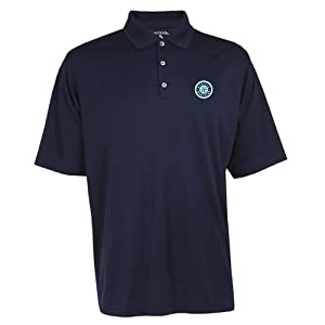 Seattle Mariners MLB Exceed Mens Polo (Navy) by Antigua