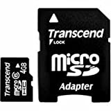 Transcend 4 GB Class 6 microSDHC Flash Memory Card TS4GUSDHC6 ~ Transcend