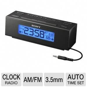 sony compact digital am fm dual alarm clock radio with large led display brightness control. Black Bedroom Furniture Sets. Home Design Ideas