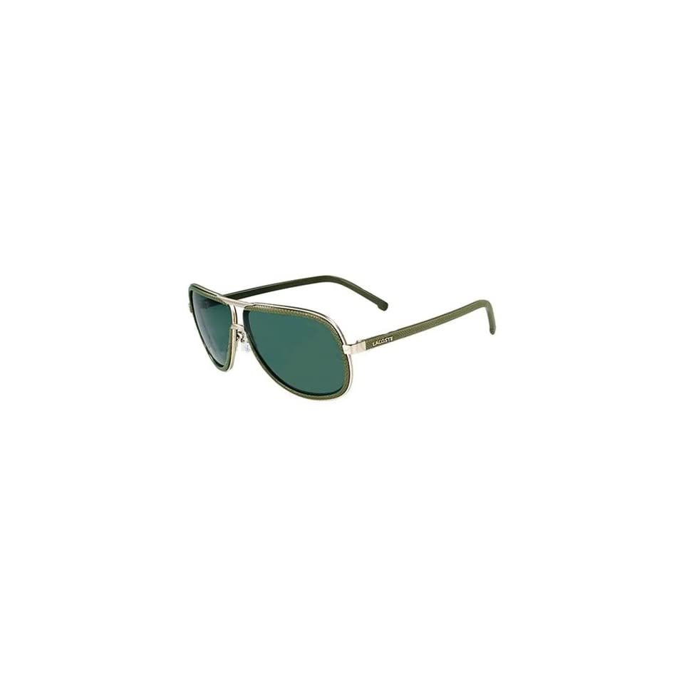 71295601123 Lacoste Mens L111S 714 62 Green Aviator Sunglasses on PopScreen