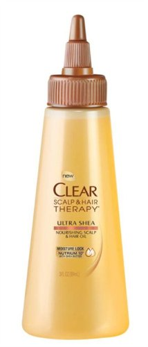 CLEAR SCALP & HAIR BEAUTY THERAPY Ultra Shea Nourishing Scalp & Hair Oil, 3 Fluid Ounce
