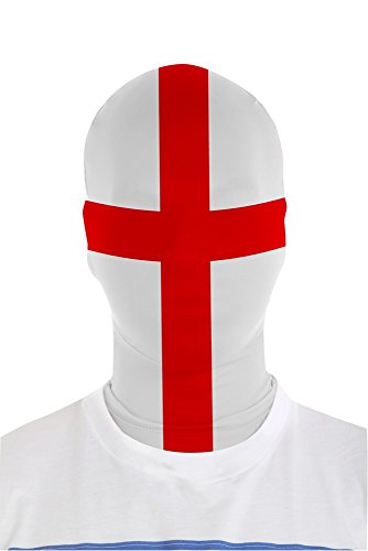 Morphsuits Morphmask Flag England, White / Red, One Size