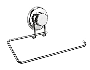 HASKO accessories - Super Powerful Vacuum Suction Cup Paper Towel Holder - Wall Mount For Kitchen Storage - Chrome