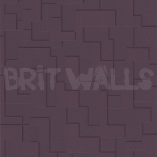 3d block 39 purple brick effect wallpaper by wallpaper for 3d effect wallpaper uk