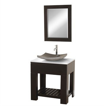 Zen II 30 Inch Bathroom Vanity Set by Wyndham Collection - Espresso