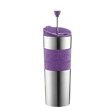 bodum travel press edelstahl kaffeebereiter lila dc760. Black Bedroom Furniture Sets. Home Design Ideas