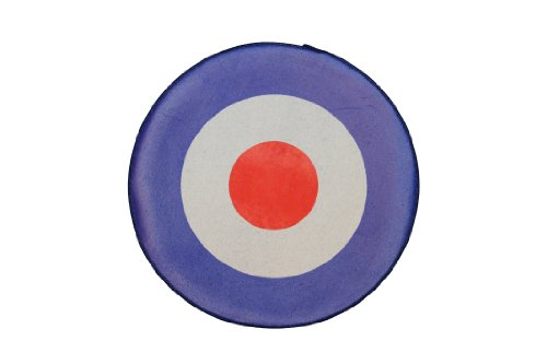 XLG 11 inch Red White Blue Mod Target Woven Back Jacket Patch Applique (Red And White Target compare prices)