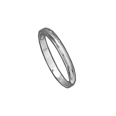 Mens Sterling Silver 2 mm Wide Wedding Band Ring