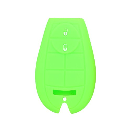 DSP Silicone Cover Skin Jacket fit for JEEP Smart Remote Key With Emblem CV9751 Light Green (Jeep Emblem Light compare prices)