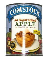 Comstock Apple Pie Filling No Sugar Added 20oz - 6 Unit Pack