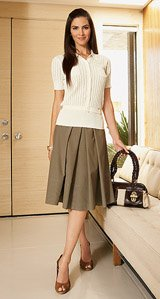 PLEAT FRONT A-LINE SKIRT - Buy PLEAT FRONT A-LINE SKIRT - Purchase PLEAT FRONT A-LINE SKIRT (Barrie Pace, Barrie Pace Skirts, Barrie Pace Womens Skirts, Apparel, Departments, Women, Skirts, Womens Skirts)