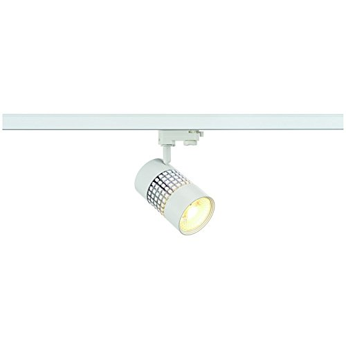 SLV Structec Led rund, 3000 K, 60 grad, inklusive 3 Pin Adapter, 22 W, weiß 152831