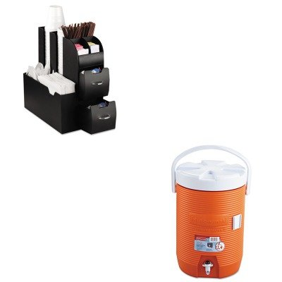 KITEMSCAD01BLKRUB1683ORG - Value Kit - Rubbermaid Water Cooler (RUB1683ORG) and Ems Mind Reader Llc Coffee Organizer (EMSCAD01BLK)