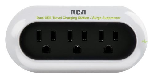 RCA PCHSTAT2R Portable Charging Station for Cell Phone, MP3, and other Electronics (White) Picture