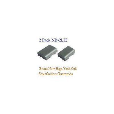 2 Pack of Canon NB-2L Eq. Camcorder/Digital Camera Battery