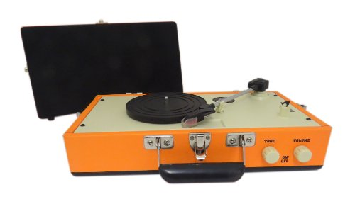 Steepletone SRP025 3 Speed Record Player with Detachable Speaker - Orange Black Friday & Cyber Monday 2014