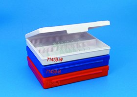 Microscope Slide Box 100 Capacity, Red