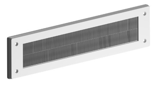 Stormguard 06SR0150000W Internal PVC Letter Box Brush Cover - White