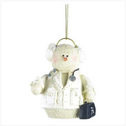 Snowberry Cuties Snowman Doctor Christmas Ornament