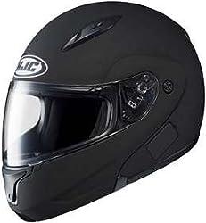 Hjc CL-MAX CLMAX FLIP-UP 2 Matte Black SIZE:LRG Full Face Motorcycle Helmet