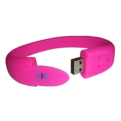 Wristband Usb Flash Pen Drive Memory Stick 4gb - **pink** - Brilliant Gift by DJC Electronics