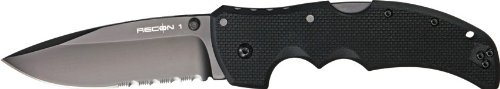 Cold Steel Recon 1 Spear Point 50/50 Edge Tactical Folder Knife