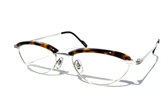 Amazon.com: 8031 Silver & Tortoise Shell Brown SMALL Oval