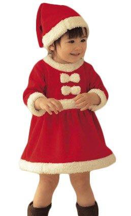 ミニサンタ! 子供 キッズ サンタ 衣装 クリスマス コスチューム 女の子 90cm