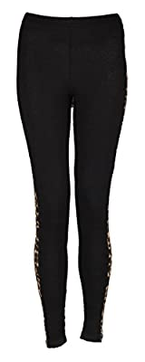 Forever Womens Plus Size Animal Leopard Side Panel Leggings