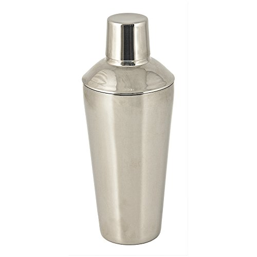 True Fabrications Stainless Steel Traditional 24 Oz Cocktail Drink Shaker, Made Of Rust Proof Stainless Steel, Includes Shaker, Strainer And Cap front-83053