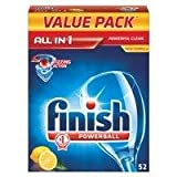 Finish All-in-1 Powerball Lemon Sparkle Dishwasher Tablets, Pack of 52