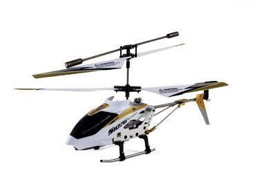 Syma S107G 3 Channel RC Radio Remote Control Helicopter with Gyro - White