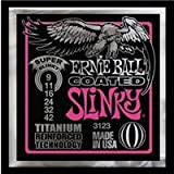 COATED Ernie Ball Super Slinky Strings with Titanium Technolgy