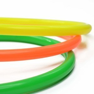 Cosmos 6 Pcs Large Size Plastic Toss Rings for Speed and Agility Practice Games