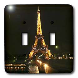 Vacation Spots - Eiffel Tower - Light Switch Covers - double toggle switch