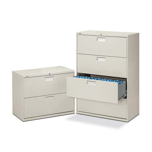 "o HON Company o - 2 Drawer Lateral File W/Lock, 36""x19-1/4""x28-3/8"", Charcoal"