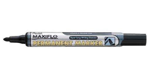 Pentel Lot de 6 marqueurs permanent MAXIFLO NLF50, noir