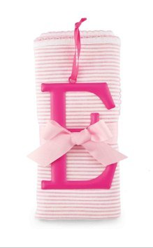 Mud Pie Cotton Receiving Blanket, E/Pink