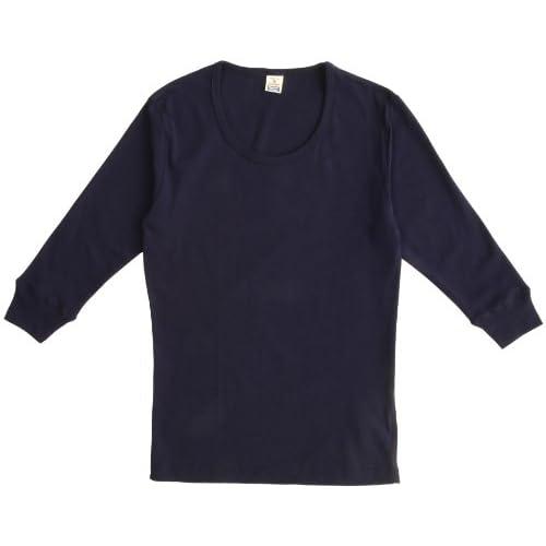 (ヘルスニット)HEALTHKNIT 3/4 Sleeve T-Shirts HT-001  NAVY L
