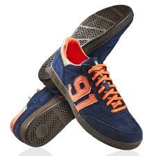 Salming, Scarpe da pallamano uomo dunkelblau / orange 8.0 US - 41.1/3 EU