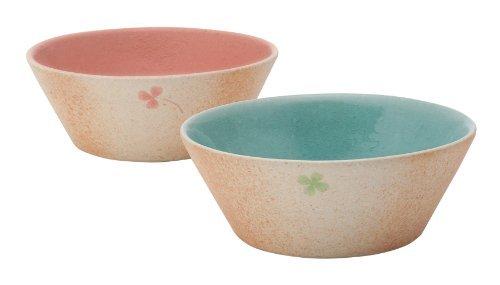 Shigaraki Yaki Clover 15cm Ensemble de 2Moyen Bol Ceramic Originale Japonaise