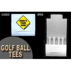 Bill Engvalls Here's Your Sign Match Book Golf Tee Set