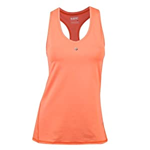 UFC Women's Octagon Kinetic T-Back Training Tank Top, Coral, X-Small