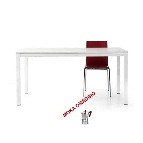 TABLES&CHAIRS tavolo da pranzo bianco legno frassinato allungabile moderno 688 120x80x76