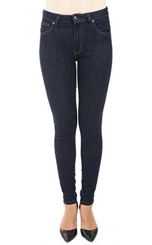 "Just USA Jeans Women's 9.5"" High Rise basic ankle skinny denim 7 Dark Indigo"