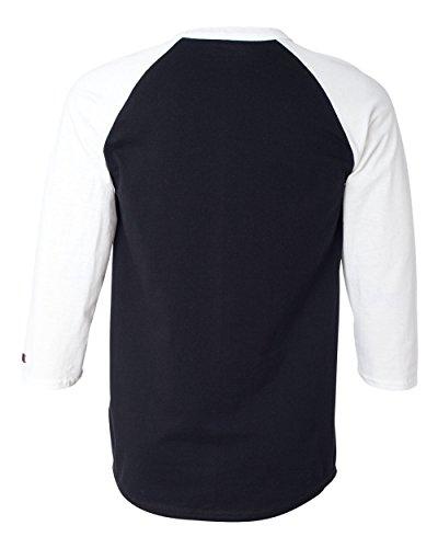 Champion Men's Tagless Baseball Raglan T-Shirt, black/white, Large (Champion Black Shirt compare prices)