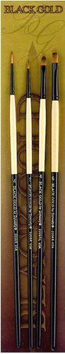 black-gold-synthetic-sable-bg-set-2-by-hyatts