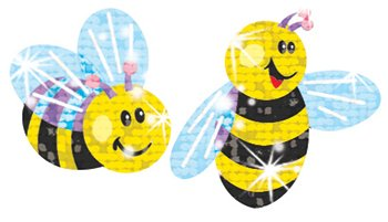 21 Pack TREND ENTERPRISES INC. BUMBLE BEE STICKER