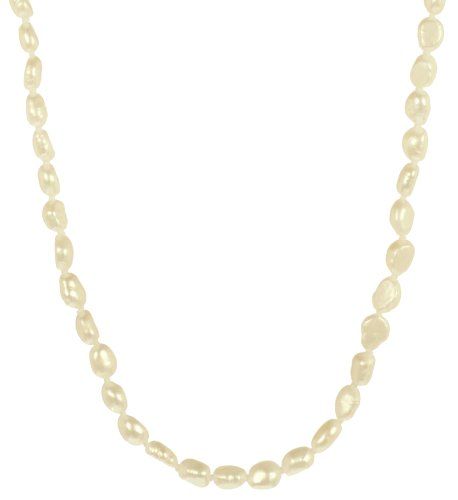 Baroque White Freshwater Pearl Necklace, 28